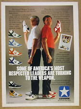 1986 Converse WEAPON Hi-Tops Basketball Shoes college coaches vintage print Ad