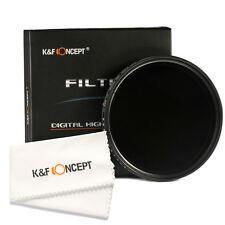 46mm Slim Adjustable ND Fader ND2 to ND400 Neutral Density Lens Filter + Cloth