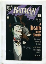 Batman #429 - 1988 (Grade 9.0) DEATH IN THE FAMILY SIGNED BY MIGNOLA!
