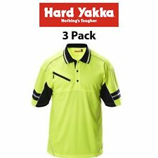 Womens Hard Yakka Y19342 KoolGear Hi-Vis Short Sleeve Vent Polo Cool Size 14
