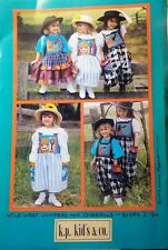 K.P. Kids & Co. Wild West Jumpers & Overalls sewing patterns, sizes 2, 4, 6, 6X