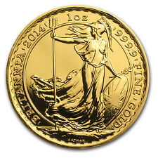 2014 1 oz Gold Britannia Coin - Lunar Year of the Horse Privy Mark - SKU #84843