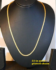 Real looking 22 ct gold plated Chain  - necklace party wear 22 in HA2