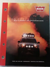 Warn Industries, Inc. 2012 - 2013 Product and Application Guide Booklet Catalog