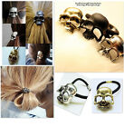♥ HOT♥ Metallic Skull Hair Cuffs Bands, CelebStyle Antique Silver, Gold, Black