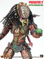 HOT TOYS HOTTOYS MMS 45 14' EXTREMELY NEW RARE PREDATOR 2 BATTLE DAMAGED VERSION