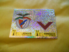 FIGURINE PANINI-CALCIO COPPE 1997/1998-LOGO BADGE BENFICA-BORDEAUX 170 A/B-N.