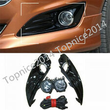 Front Fog Lamps Lights Clear + Bezels + Harness Kits for Ford Fiesta 2013-2015