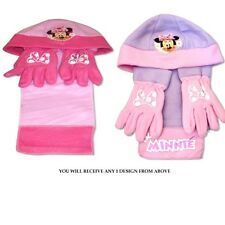Disney Minnie Mouse 'Miss Minnie' Assorted Hat, Gloves And Scarf Set New