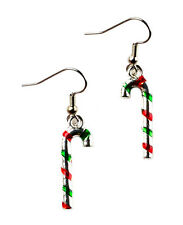 Candy Cane Earrings - Accessories - Women's Jewelry - Handmade - Gift Box