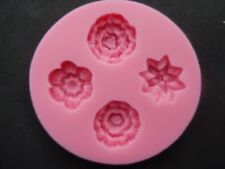 4 silicone Flower shape mould Cakes chocolate soap sugarcraft decoration