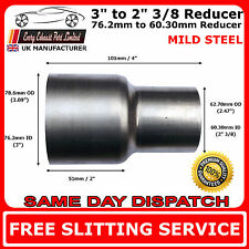 76mm to 60mm Mild Steel Standard Exhaust Reducer Connector Pipe Tube