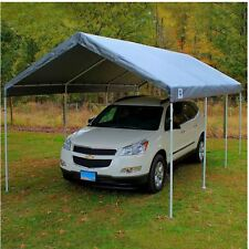 10x20 Canopy Replacement Cover Tent King Roof Carport Frame Not Included Silver