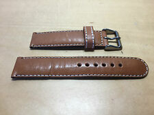 New - Brown Leather Strap 20 mm - Correa Piel 20 mm - Nueva