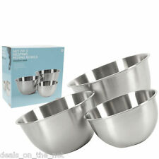 Set of 3 Pcs Piece Stainless Steel Mixing Salad Bowls Set Cooking Baking Bowl