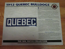 "1912 QUEBEC BULLDOGS Replica 7"" Patch STANLEY CUP"