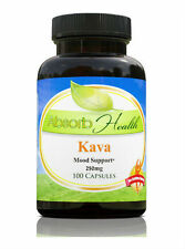 Kava Capsules Powerful Mood Boost Anxiety Reducer 30% Kavalactone 100 Caps 250mg