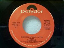"""VANGELIS """"CHARIOTS OF FIRE-TITLES / ERIC'S THEME"""" 45 MINT OLD STORE STOCK"""
