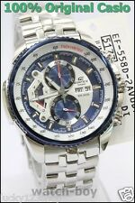 EF-558D-2A Genuine Casio Men's Watch Edifice Blue Analog Date Day Chronograph