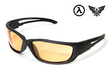 EDGE TACTICAL EYEWEAR BLADE RUNNER XL BLACK / TIGER EYE LENS