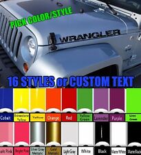 Jeep Decal | WRANGLER Hood Door Fender Window Decal rubicon sahara JK TJ YJ