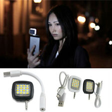 Portable Smartphone Phone Selfie Mini 16 LED Flash Fill Light For IOS Android WP