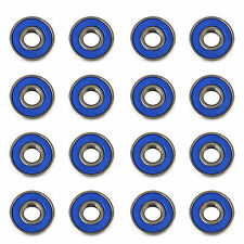 16 Frictionless ABEC 9 Skateboard Roller Skate Wheels Scooter Spare Bearings