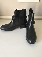 "NEW Black Leather Ankle Boot 7 Croft & Barrow ""Jean"" PERFECT!! with Buckle ($75)"