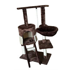 Cat Tree Scratcher Scratching Bed Home Furniture Post Climb Play Kitten Pet Bed