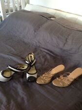 two pairs of high heels from guess and asos size 4 uk