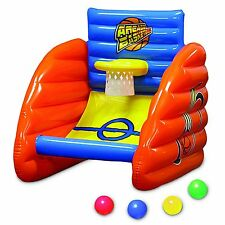 Basketball Game Float Inflatable Land or Swimming Pool Arcade Style Raft 4 Balls