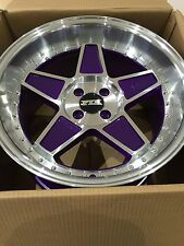 "FYK ED3 17"" 8.5j 10j 4x100 roues en alliage euro drift bbs rs xxr bmw E30 vw golf"