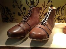 Geoffrey | Vintage Tan Leather Football Rugby Shoes | Team Golden Pair
