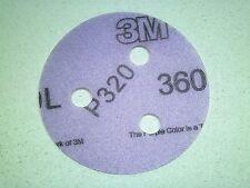 """3"""" Inch - [QTY - 100] 3M HOOKIT Velcro Hook & Loop Discs - 3 Hole - 320 Grit LR"""