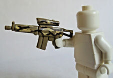 Custom TACTICAL RIFLE Desert Camo for Lego Minifigures + Free GPS Locator