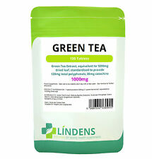 Green Tea Extract Tablets 100 x 1000mg Lindens Fat Burner Weight Loss Supplement