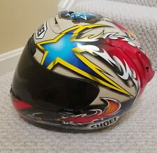 Shoei x 11 helmet Norick model on black iridium shield Szie M