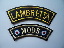 Wholesale 2 Embroidered Sew On / Iron On Shoulder Patches Mod Lambretta Scooter