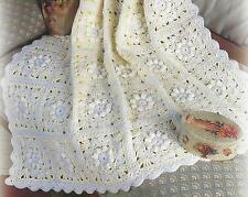 "Beautiful Baby Crochet Shawl Blanket Pattern in Squares 46x68""  DK 718"