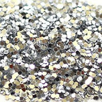 Silver Glitter 040 Hex Double Sided (1mm flake) 35g to 1kg bulk Shiny Craft Kids