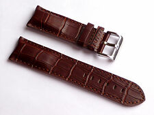 Replacement Quality Lug 24mm Brown Genuine Leather Alligator Strap Breitling Men
