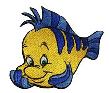 Ariel flounder patch iron on fish disney embroidery sew on applique patches