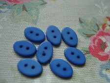 8 Oval Cornflower Blue Plastic Buttons