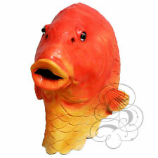 Latex Overhead Realistic Animal Aquatic Gold Fish Fancy Prop Carnival Party Mask