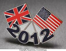OLYMPIC PINS 2012 LONDON ENGLAND PATRIOTIC USA & UNION JACK FLAG