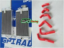 full aluminum radiator&RED hose kit Honda CRF450R CRF 450 R 2002 2003 2004 04 03