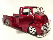 1952 Chevy COE Pickup Truck, 1:24 Diecast, Collectible, Jada Toy, CANDY RED, DSP
