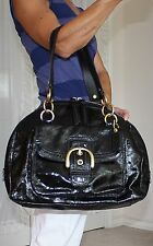 COACH Rare AUTHENTIC $598 COURTNEY Large- XL Domed Patent Leather Purse Bag VGUC