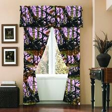 Pink Camo 5pc Curtain Set Home Oak Camper Camoflauge Hunter Mossy WOODS Girls