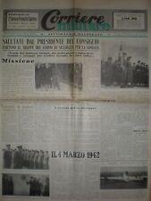 CORRIERE MILITARE ROMA 5-11 MARZO 1950 SOMALIA LA MADDALENA MARINA